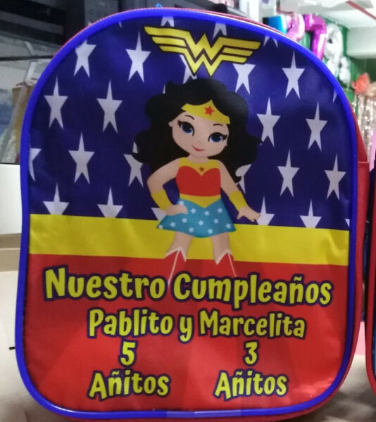 Wonder Woman Girl Superhero Party Favors Personalized Bags Backpacks Pack of 50