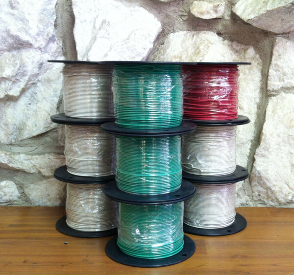 500 FT TFNTEWN WIRE. 16 AWG SOLID 600 VOLT. MADE IN USA.     REDBLUEor ORANGE