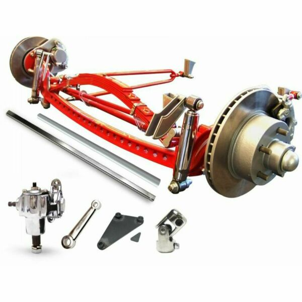 RHD Universal 47 34 Super Deluxe Hair Pin Drilled Solid Axle Kit hotrod