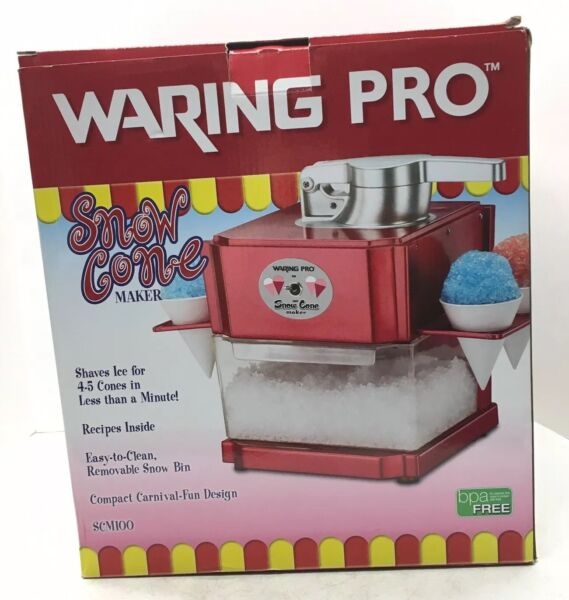 Waring Pro SCM100 Red Professional Snow Cone Maker
