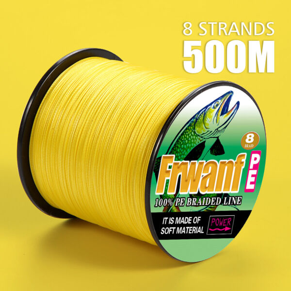 8 Strands PE 8 Braided 500m Super Strong Multifilament PE Braided Fishing Line