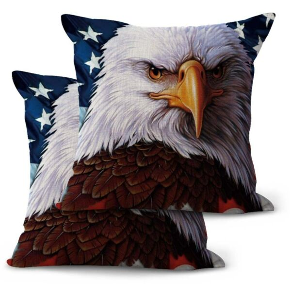 2PCS American flag patriotic eagle patio furniture cushion covers $21.99