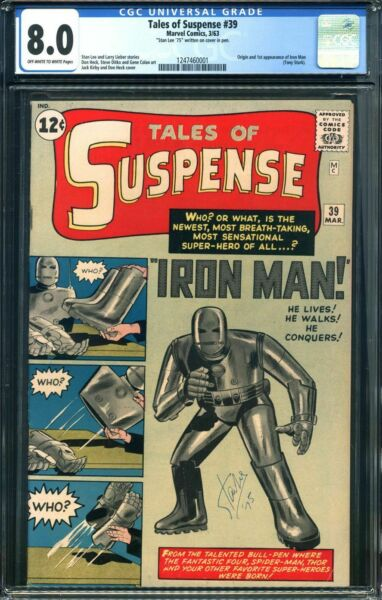 TALES OF SUSPENSE #39 CGC 8.0 OWW PAGES STAN LEE SIGNED COVER CGC #1247460001