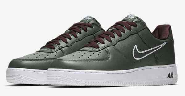 Men's Nike Air Force 1 Low Retro Hong Kong Deep Forest White 845053-300 Size 15