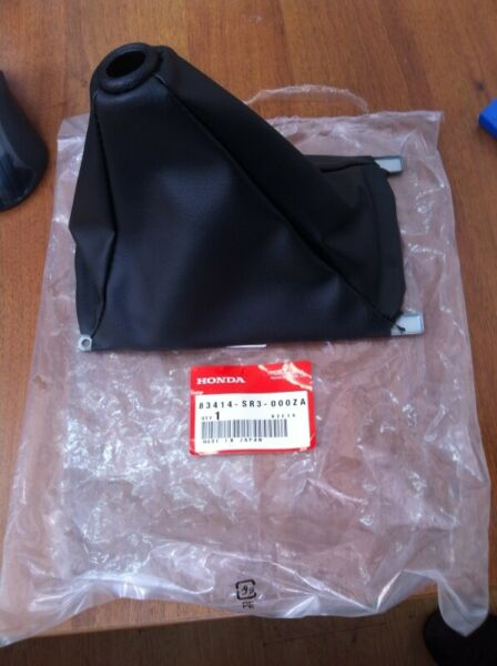 Honda Acura Genuine Center Console Shift Boot Black 83414-SR3-000ZA FS