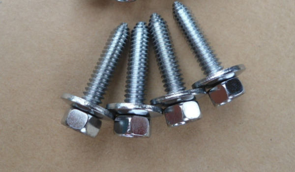 4 VINTAGE OUTSIDE MIRROR BOLTS! 14-20X1