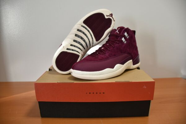 2017 Nike Air Jordan 12 XII Retro Bordeaux Burgundy Size 10