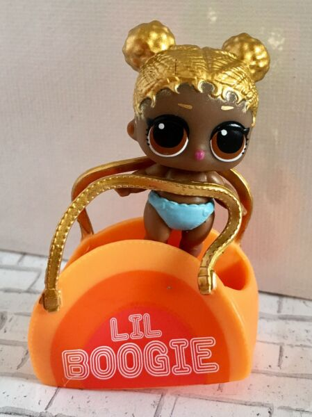LOL Surprise Doll Lil Soul Babe Gold Hair Disco Boogie Series 4 New