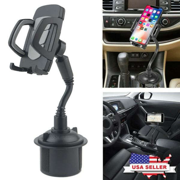 New Universal Adjustable Car Mount Gooseneck Cup Holder Cradle for Cell Phone #1