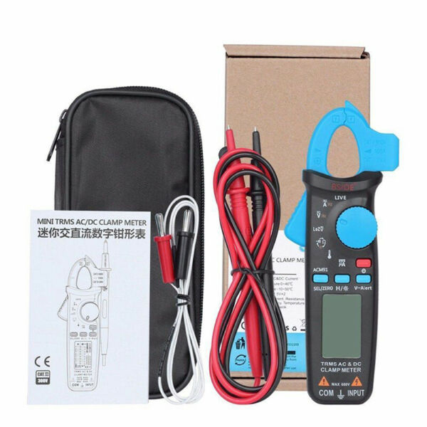 Bside ACM91 TrueRMS 6000 ACDC Low Current Automotive Digital Clamp Meter Home