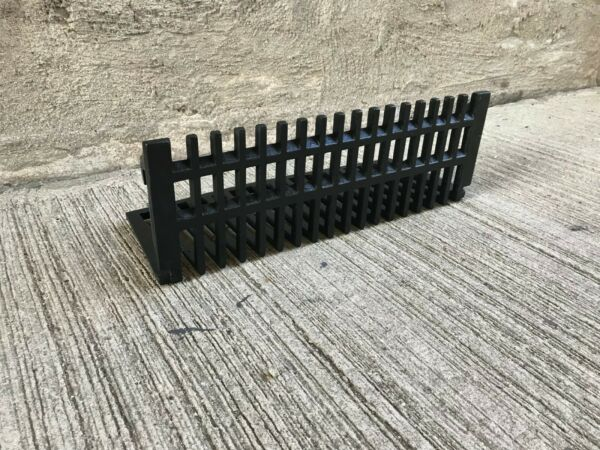 Antique Cast Iron Fireplace Grate - Black  (#2)