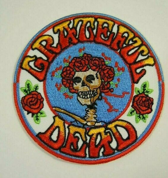 Grateful Dead - Skull & Roses Embroidered Iron-On Patch 3