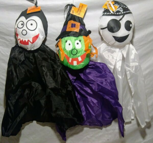 Halloween Wind Socks Hanging Floating Decorations Witch Vampire Pirate Ghost