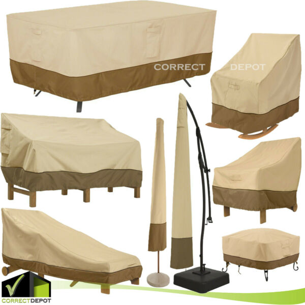Outdoor Furniture Corver Classic Accessories Patio Waterproof ASSORTED SIZES SET $130.28