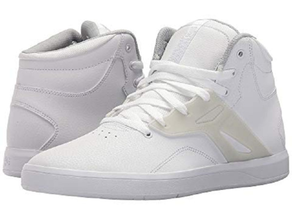 DC Shoes Men's Frequency High US 14 M White Leather Sneakers $80.00