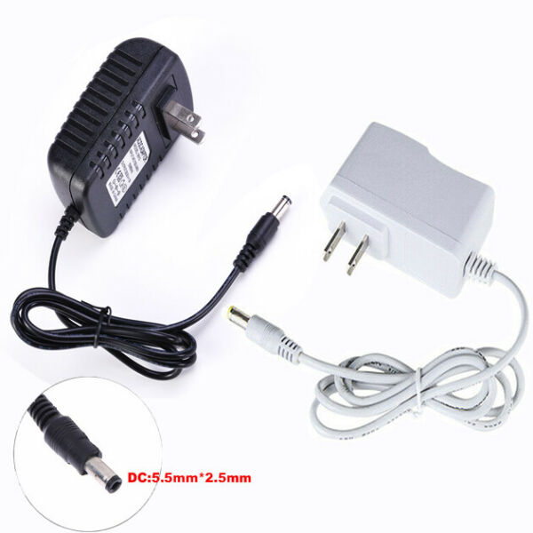 DC 5V 12V AC Power Supply Adapter 1A 2A 3A Charger US plug for LED Strip Light