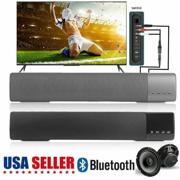 TV Sound Bar Home Theater Subwoofer Soundbar with Bluetooth Wireless 3-Color WW