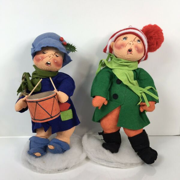 Annalee Christmas Carolers Set Of 2 Drummer Stands