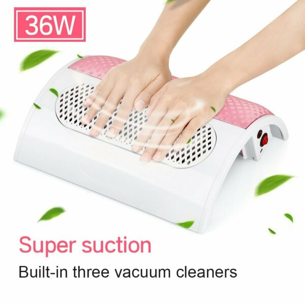 Nail Art Dust Collector 3Fans Vacuum Cleaner Tool Manicure Machine Salon 36W