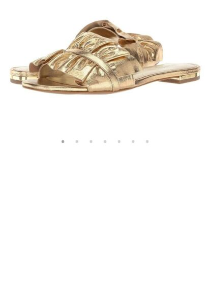 Michael kors bella slide metallic size 5.5 medium gold NIB