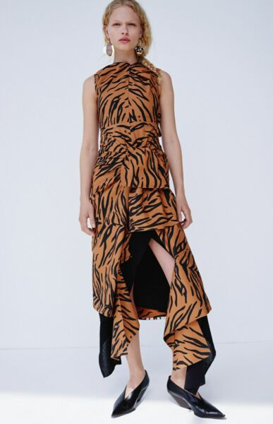 RARE!! 2016 CELINE by PHOEBE PHILO tiger print dress - new FR 38 NWT