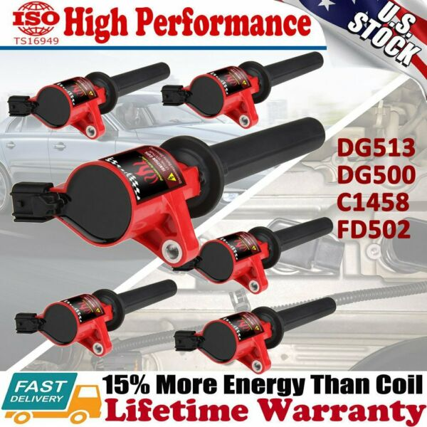 High Performance Ignition Coil 6 Packs For Ford Escape Taurus Mazda 3.0L V6 RED