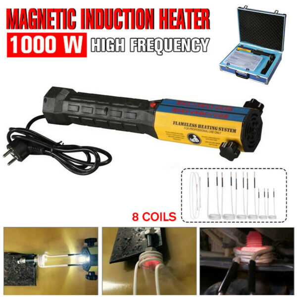 Mini Ductor Induction Heater Handheld High Frequency 8 Coils Kit 110V220V 1000W