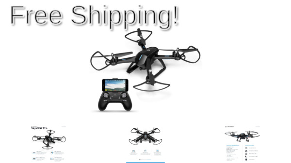 Amcrest A6-B Skyview Pro RC WiFi Drone with Camera HD 720p FPV Quadcopter Dro...