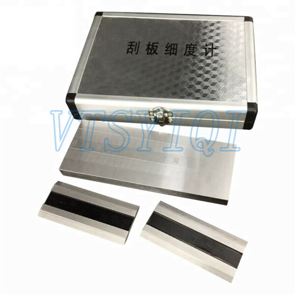 Double Groove Scraper Fineness Meter Stainless Paint particle fineness Tester
