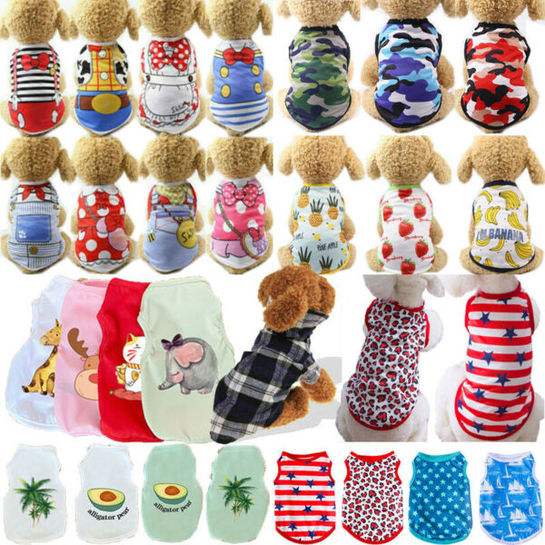 Cute Camouflage Dog Clothes Vest For Small Dog Pets Puppy Spring Summer T Shirts C $0.99