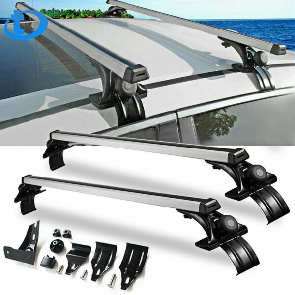 Universal 48quot; Car Top Roof Cross Bar Luggage Cargo Carrier Rack w 3 Kinds Clamp $58.88