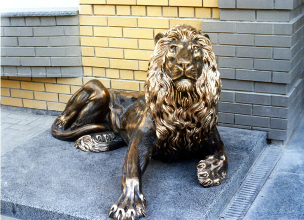 Lion King Bronze Original Author's Sculpture Realistic Style Worldwide Shipping