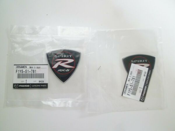 MAZDA RX8 RX-8 SPIRIT R Genuine EMBLEM BADGE SET F1Y5-51-781 x2 FS