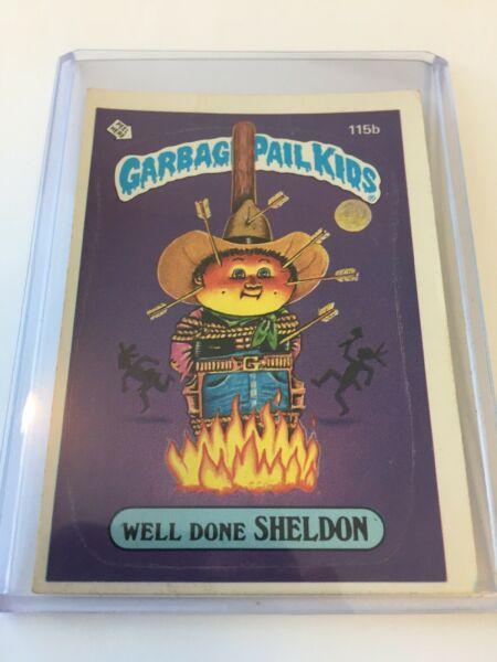 Topps Garbage Pail Kids Well Done Sheldon - 115b Good Condition