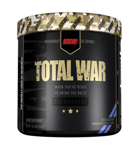 Redcon1 TOTAL WAR Pre Workout Insane Energy New Formula ALL FLAVORS FREE SHIP