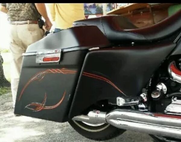 Harley Stretched Side Covers Touring 1998 2007 Push On $249.00