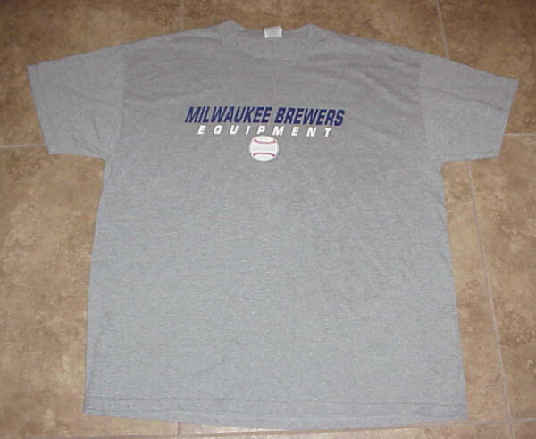 MILWAUKEE BREWERS === Brewers Equipment T-Shirt by Russell Athletic- Size XL