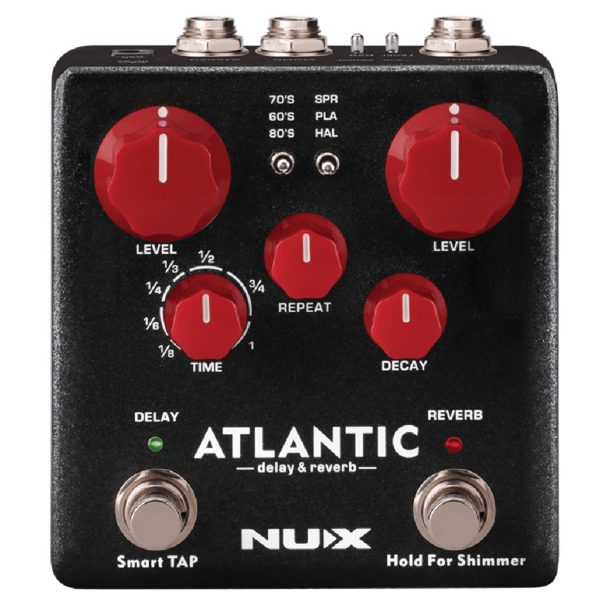 NuX Atlantic Delay and Reverb Pedal Open Box