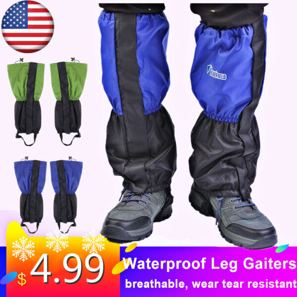 Waterproof Outdoor High Legging Gaiter Snow Climbing Hiking Hunting Boots Cover
