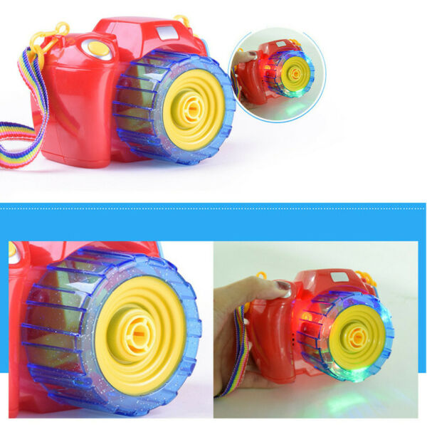 Children Music Camera Bubble Toys Automatic Bubble Blower Machine Toy For Kids
