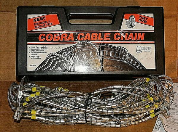 Cobra Cable Tire Snow Chains Stock #1034 Never Used