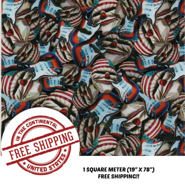 HYDROGRAPHIC WATER TRANSFER HYDRO DIP 1SQ DIPPING FILM AMERICAN JAM