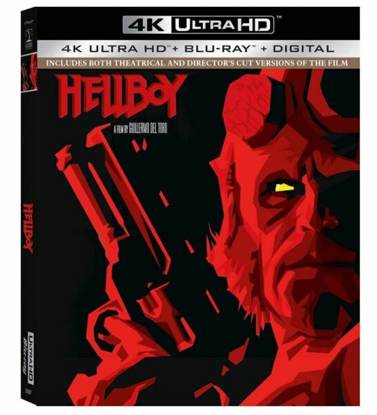 Hellboy 4K Ultra HD Blu-ray 2019 Ron Perlman Salma Blair Tambor John Hurt NEW