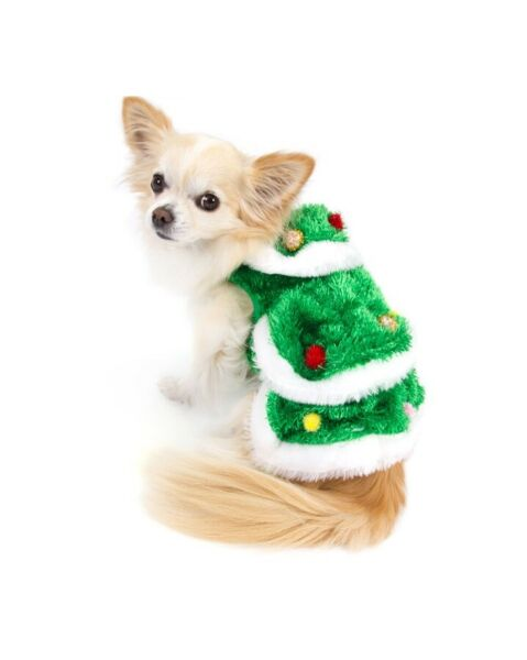 High Quality Dog Costume CHRISTMAS TREE COSTUMES Very Merry Holiday For Dogs $46.89