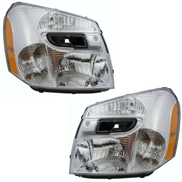 New Pair Set for 05-09 Chevy Equinox Headlights Headlamps Left & Right 2005-2009
