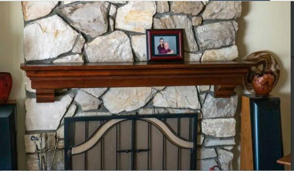 5 Ft Fireplace Mantel Shelf Wood Display Living Room Hearth Wall Mount Cherry