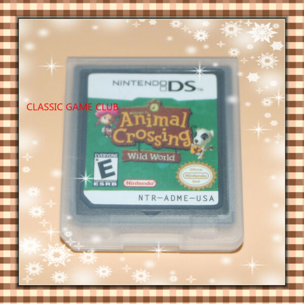 Animal Crossing: Wild World (Nintendo DS 2005) Game Only for DS  DSi  3DS XL