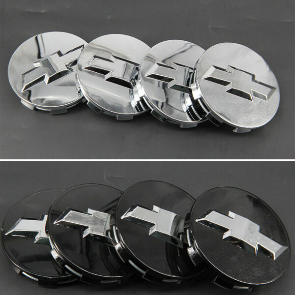 3.25 In Black Silver Wheel Center Caps Hub Cover Logo Emblem Badge For Chevy