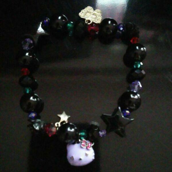 Used Anna Sui x Hello Kitty Face Beads Bracelet Super Rare Sanrio Cute bracelet