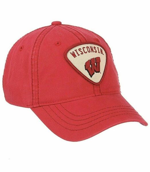 Wisconsin Badgers Hat Cap Washed Cotton Adjustable Strap Dad Hat NWT